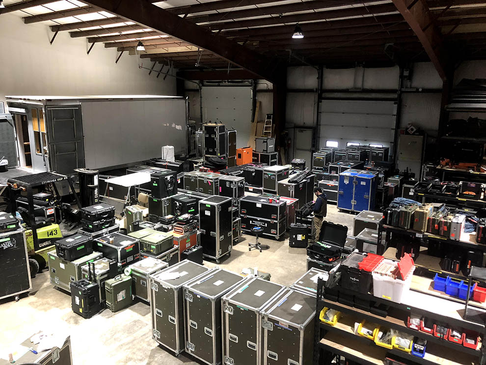 tv tech managers facilities - warehouse
